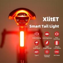Enfitnix xlitet 2020 novas luzes traseiras da bicicleta sensor inteligente luzes de freio usb xlite100 estrada mtb traseiro luzes traseiras