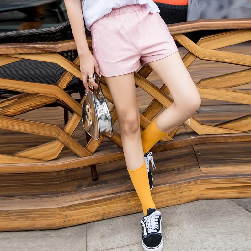 Mini Shorts Elastic-Waist Sexy Real-Leather High-Quality Casual Fashion Women New Sheepskin