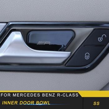 For Mercedes Benz R-Class 2014-2017 Car Styling Inner Door Bowl Wrist Cover Trim Frame Sticker Interior Accessories