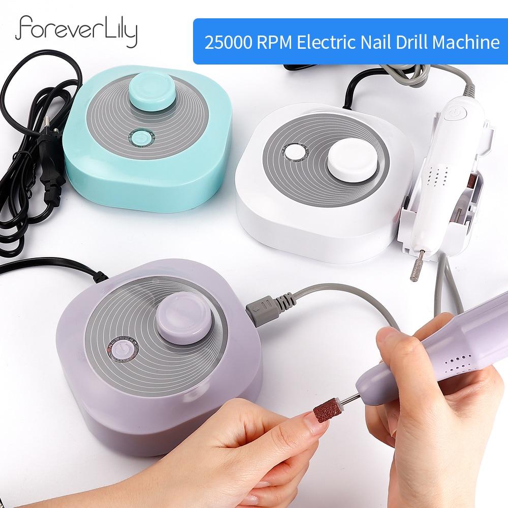 24W 25000 RPM Electric Nail Drill Bits Set Nail Art Equipment Manicure Nail Tips Manicure Electric Fingernail Files Tools Nail