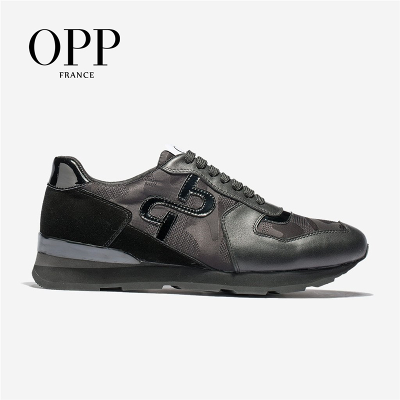 OPP Men's Shoes Large Size Sports Shoes Fashion Men's Camouflage Lace-up Casual Shoes  Comfortable  Genuine Leather Sneaker