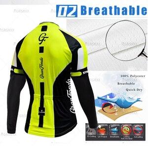 Image 3 - STRAVA Cycling Jersey Set 2021 Spring Pro Bicycle Team Long Sleeve Bicycle Clothes Premium MTB Mountain Bike Bib Sportswear Suit