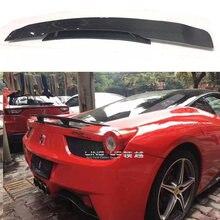 Автомобильный задний бампер из углеродного волокна спойлер для