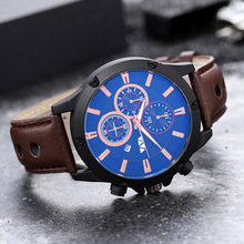 Men Quartz Watches Leather Shock Resistant Wrist Luxury Brand Waterproof Sports Male Clocks Date