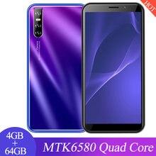 Nota 9s 4gb ram 64gb rom versão global quad core face desbloquear telefones celulares 6.0 polegada hd tela cheia wcdma/gsm telefone móvel