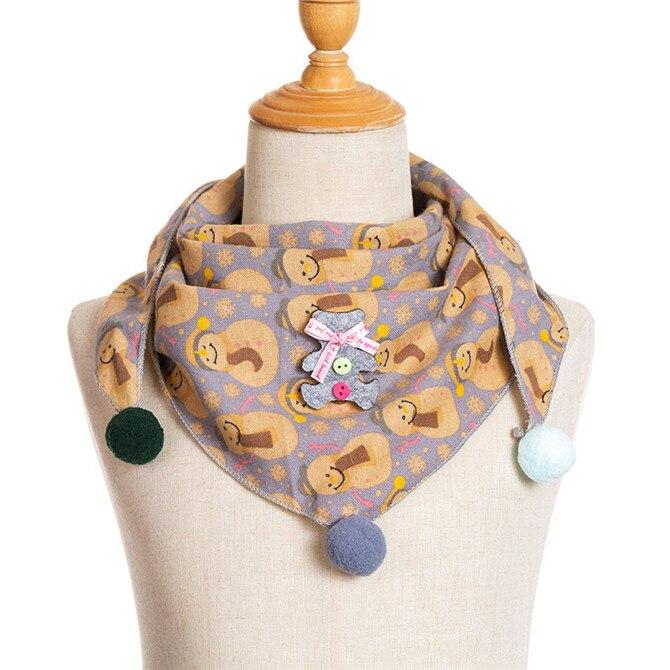 Весенние клетчатые треугольные шарфы в горошек для маленьких девочек; осенне-зимняя шаль для мальчиков и девочек; Детские хлопковые воротники; теплый детский шейный платок - Цвет: A5