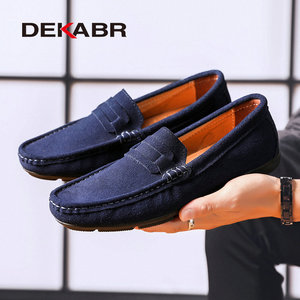 Image 4 - DEKABR Hot sale Brand Men Loafers Mens Casual Shoes Suede Leather Moccasins Breathable Slip on Boat Shoes Chaussures Hommes