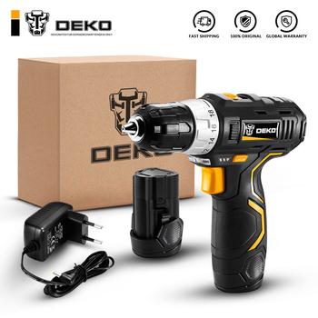 DEKO GCD12DU3 12-woltowa bateria litowo-jonowa 32N m 2-prędkość elektryczna wiertarka bezprzewodowa Mini wiertarka śrubokręt bezprzewodowy sterownik mocy tanie i dobre opinie Wiertarko 50-60Hz Drilling in Steel in Wood in Ceramic 1 45kg 12 v Max 35mm in Wood 340 W Light Weight LED Worklight Variable-speed