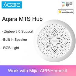 2021 Aqara M1S Hub Gateway with RGB Led Night Light Zigbee 3.0 Siri Voice APP Remote Control Smart Home Work Mijia APP HomeKit