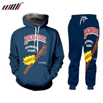 UJWI Backwoods Sweatpants outfits Hoodies two piece set men Hoodie Sweatshirt 2 Winter tracksuit Pullover