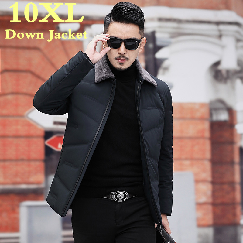 Plus Size 10XL 9XL 8XL  Men's  Winter Down Jacket Brand New 90% White Duck Down Thicken Warm Male Business Casual Coats Clothing