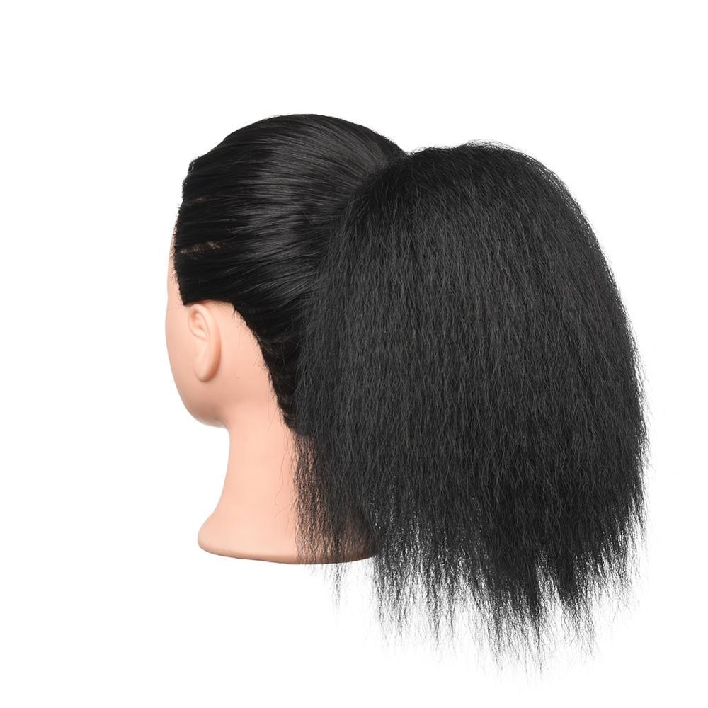 8INCH Afro Kinky Straight Hair Bun Sensationnel Synthetic Hair Drawstring Ponytail Natural Perm Yaki