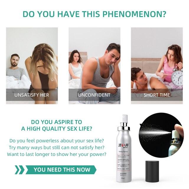 30ML+5ML Sex Delay Spray for Men Non-Numbing Male Delay Ejaculation Sex Spray Man Prolong Sprays Penis Premature Ejaculation 2