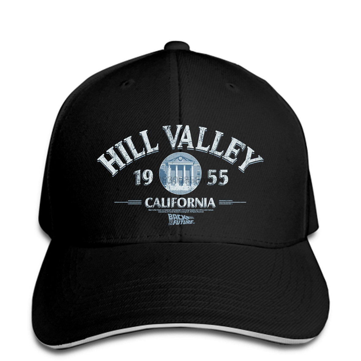 Back to the Future Movie HILL VALLEY California 1955 Licensed Men Baseball Cap Snapback Cap Women Hat Peaked image