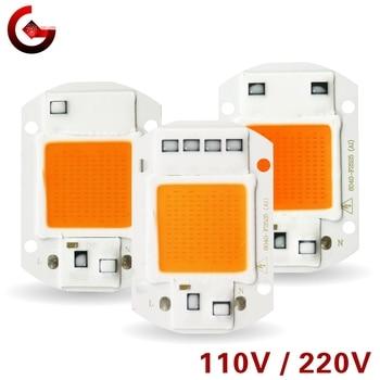 Full Spectrum Led Grow Chip 10W 20W 30W 50W 110V 220V cob grow light chip 380nm-840nm for Indoor Plant Seedling Grow and Flower 10 pcs ac 110v 220v 20w 30w 50w 380nm 840nm full spectrum led cob chip integrated smart ic driver 220v 110v