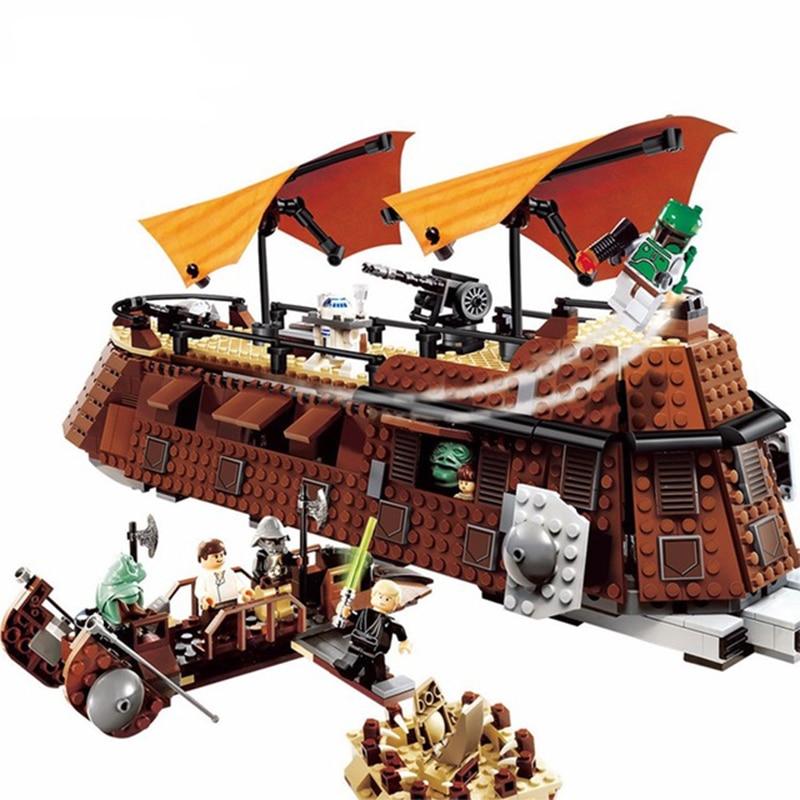 NEW 05090 Lepining Star Wars 6210 Jabba Sail Barge Model Building Blocks 821PCS Bricks Boys Birthday Toy Gift