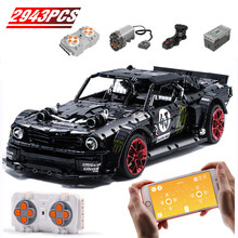 1965 Ford Mustang Hoonicorn RC Racing Car Technic MOC 22970 FIT Legoing 20102 Technology Building Block Bricks Kid Toys Gifts(China)