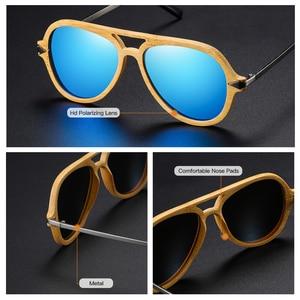 Image 4 - GM Vintageไม้ไผ่ไม้แว่นตากันแดดชายหญิงยี่ห้อDesignerกรอบโลหะแว่นตากันแดด