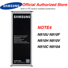 Original Samsung EB-BN910BBK Battery For Samsung GALAXY NOTE4 N910a N910u N910V N910C N910F N910H NOTE 4 3220mA