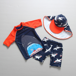 Image 2 - ملابس سباحة للأطفال أكمام طويلة ملابس سباحة للأطفال UPF50 الحماية من الشمس Rashguard الصبي ملابس حمام الشاطئ لباس سباحة للأولاد