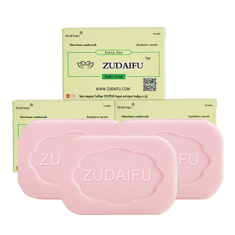 3 Pc Zudaifu Soap Sulfur Soap Psoriasis Eczema Treatment Soaps Anti Bacterial Skin Cleaning Tool Remove Acne Pimple Wholesale