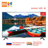 TV Xiao mi TV Android Smart TV 4S 65 pouces 4K QFHD écran TV ensemble WIFI Ultra-mince 2GB + 8GB Dolby sound 100% russie