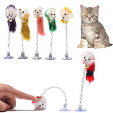 Cat-Toys Sucker Pet-Products False-Mouse Elastic Funny Cat 20x10cm Mice-Shape Bottom