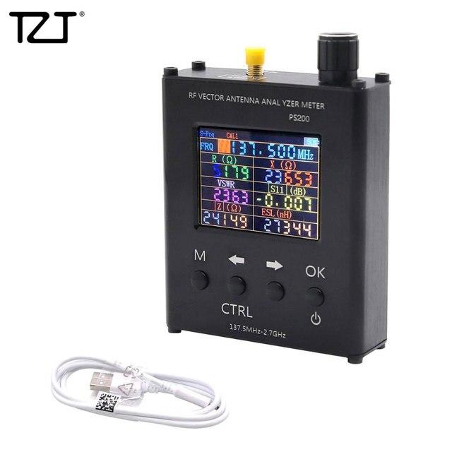 TZT N1201SA + 35MHz   2.7GHz UV RF anten analizörü SWR metre test cihazı alüminyum alaşım kabuk ile PS100/PS200