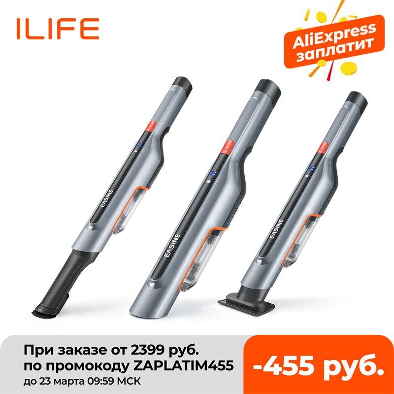 Easine por ilife m50 aspirador de pó de carro portátil-14,500pa forte potência de sucção, aspirador de vara sem fio-2 horas de carga rápida