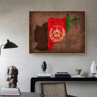 Country Flag Maps Poster Afghanistan Flag Map Canvas Print Home Decor Wall Art Decor No Frame Painting Calligraphy Aliexpress