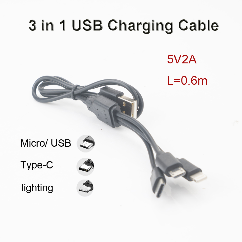 VIPATEY <font><b>3</b></font> <font><b>in</b></font> <font><b>1</b></font> <font><b>USB</b></font> <font><b>Cable</b></font> for iPhone 11 XS Max XR X Fast Charging 2.4A Micro Type C Mobile Phone <font><b>Cable</b></font> For Samsung Xiaomi Huawei image