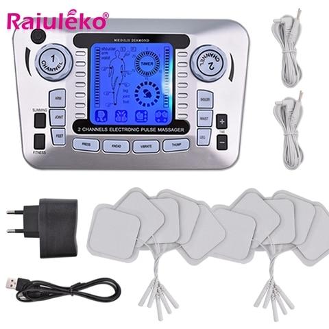 ems eletrica estimulador muscular 12 modos de corpo digital massageador pulso dezenas acupuntura baixa frequencia