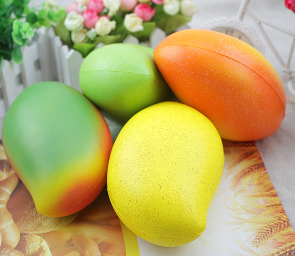 Simulation Fruit Pinch Toy Squeeze Jumbo Stress Reliever Soft Mango Doll Scented Slow Rising Toys Funny Gifts  L103