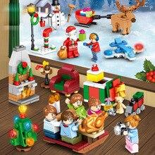 Рождество сцена строительный блок кирпич Санта-Клаус Турция собрать вместе мини игрушка фигурка совместима с лего Рождественский подарок на год ребенок
