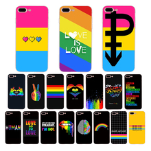 IMIDO LGBT Lesbian pansexual bisexual Gay Rainbow Soft phone case for iphone 11 pro max XS X XR cover 7 8 6s plus 5s se 10 shell