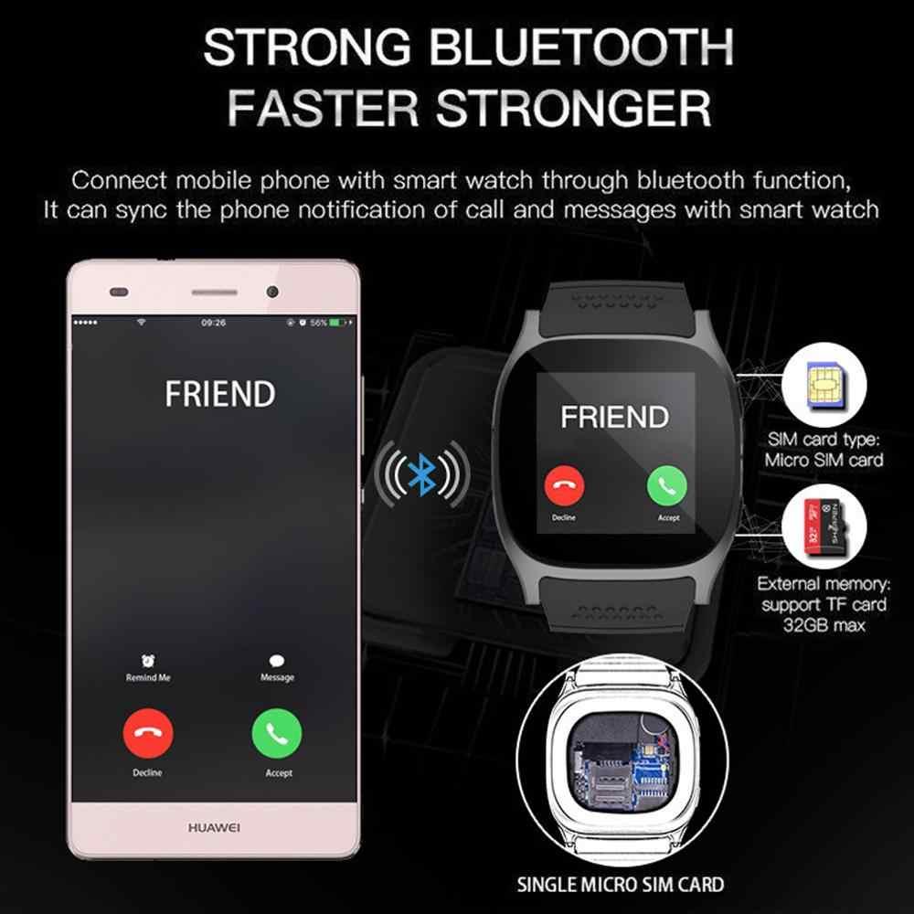 T8 Bluetooth Smart Watch dengan Kamera Mendukung SIM TF Kartu Pedometer Pria Wanita Panggilan Olahraga Smartwatch untuk Android Ponsel PK q18 DZ09