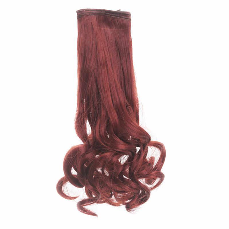 1 Pcs 25*100 Cm Water Wave Krullend Synthetisch Haar Inslagen Heldere Kleuren Rood Groen Blauw Voor 1/3 1/4 1/6 Bjd Diy Pruiken Pop Accessoires