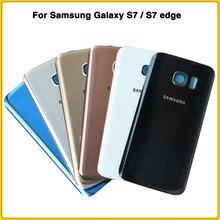 Чехол на заднюю панель для samsung Galaxy S7, G930, S7 edge, G935, задняя крышка на батарейке, задняя крышка на дверь, чехол на шасси