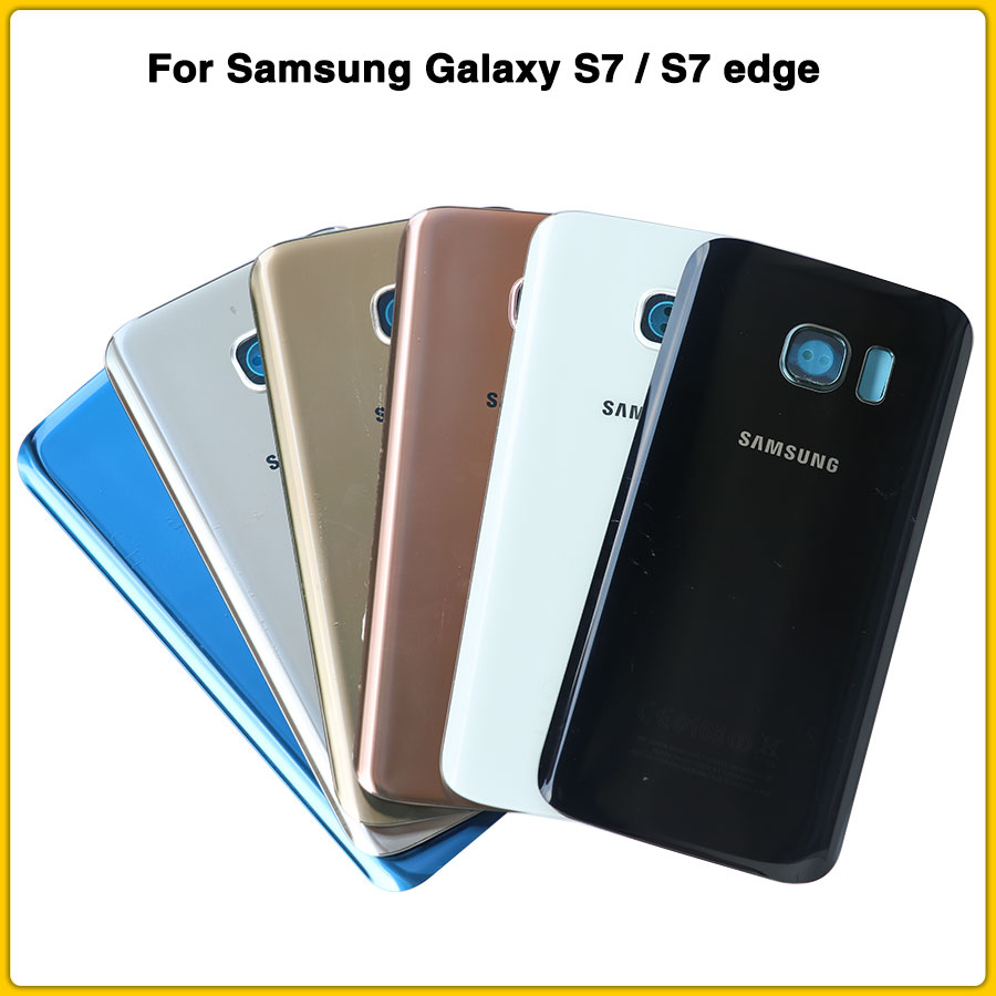 New Rear Housing Case For Samsung Galaxy S7 G930 S7 Edge G935 Battery Back Cover Door Rear Case Chassis Shell