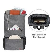 Vintage Waterproof Backpacks Men Women With Ice Bag Insulated Thermal Picnic Lunchbox Bookbag Grey Travel Backbag School Bag сумка meizu waterproof travel bag grey 74569
