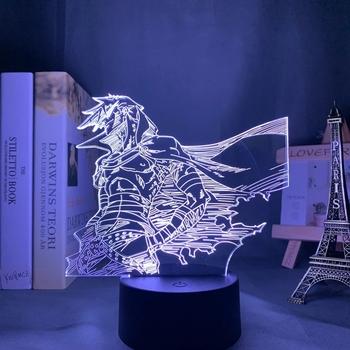 Prezent dla dzieci Anime Gurren Lagann Kamina Led lampka nocna do dekoracja sypialni prezent urodzinowy lampka nocna Kamina Light Gurren Lagann gadżet tanie i dobre opinie IUGFH atmosferyczne cartoon CN (pochodzenie) NONE Lampki nocne