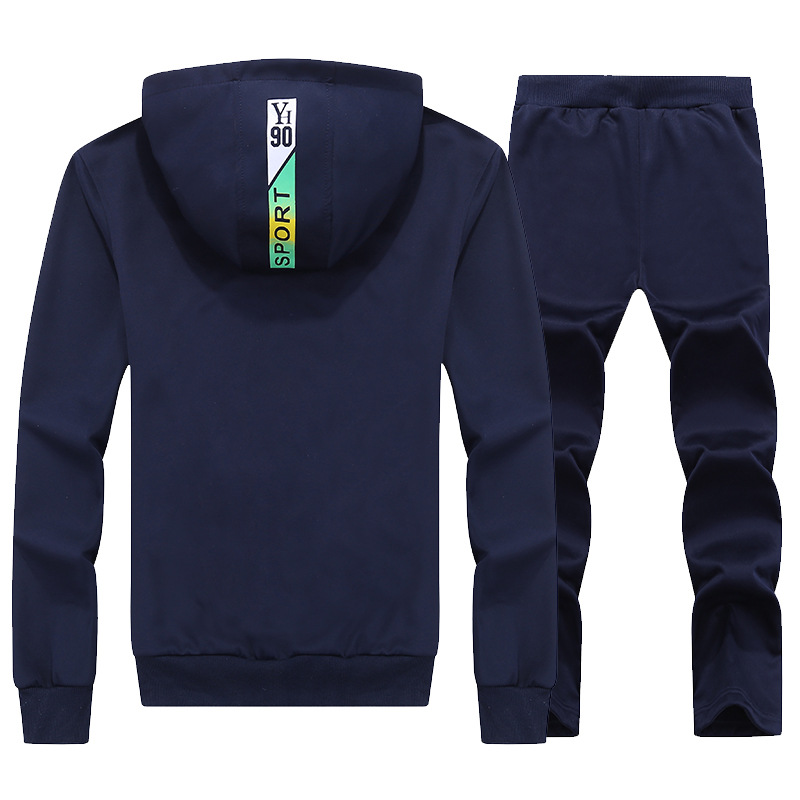 2017 Spring Couples Leisure Sports Suit Knitted Hoodie Trousers Set Men And Women Heart-Series Autumn And Winter
