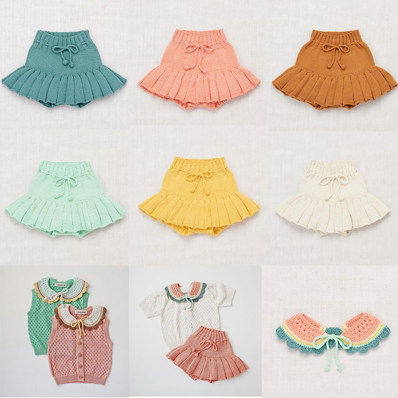 Misha And Puff 2020 Spring Summer New Arrivals Kids Girls Knit Skirts Lovely Hand Made Kids Girls Summer Skirt Baby Brand Clothe