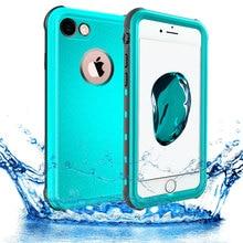 علبة شيلبوكس أصلية مضادة للماء لهاتف آيفون 7 8 Plus مع حافظة من البولي يوريثان للسباحة تحت الماء لهاتف آيفون 6s Plus حافظة مضادة للماء