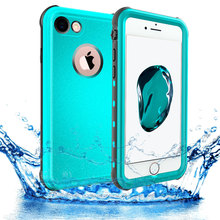 SHELLBOX Original Waterproof Case for iPhone 7 8 Plus PC with TPU Swimming Underwater Cover for iPhone 6s Plus Water Proof Case