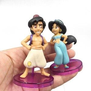 Image 5 - Disney Prinses Aladdin Anime Figuren Doll Jasmine Genie Jafar Anime Figuur PVC Actiefiguren Speelgoed Kerstcadeau voor Kid