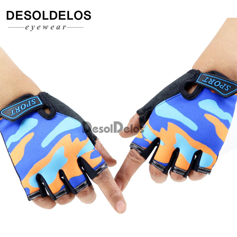Fingerless Kids Gloves Non-Slip Ultrathin Children Half Finger Breathable Gloves For Boys Girls Luvas De Inverno 2019
