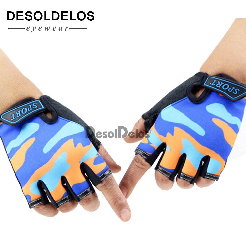 Fingerless Kids Gloves Non-Slip Ultrathin Children Half Finger Breathable Gloves For Boys Girls Luvas De Inverno 2019