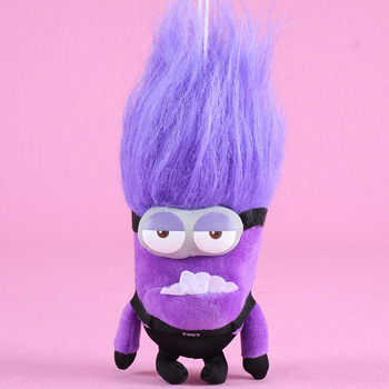 HONJI Purple Minions Plush Doll Despicable Me Same Paragraph Fun Stuffed Toys ChildrenChildren's Peluche Gift printio гадкий я despicable me