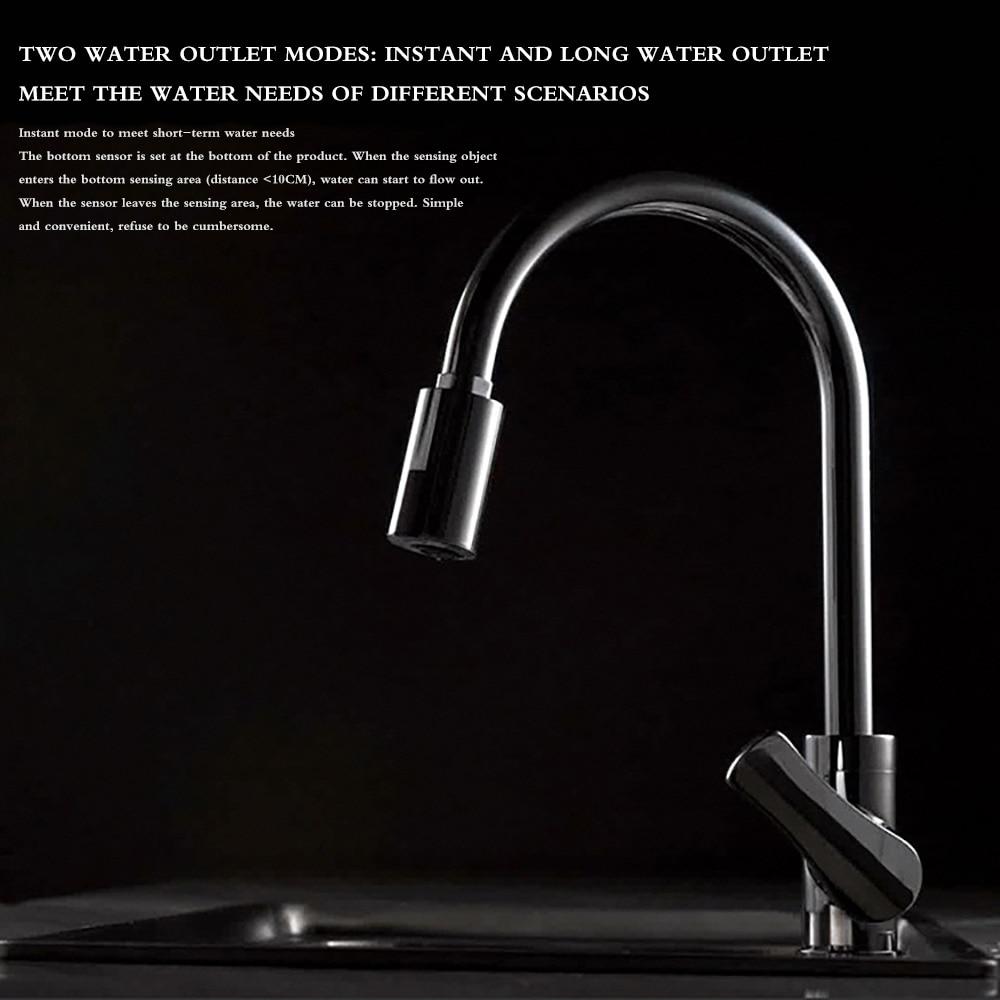 Hc70b2862061e494ba76d0b627081059dS Smart Sensor Kitchen Faucets Water-Saving Sensor Non-Contact Faucet Infrared Sensor Adapter For Kitchen Bathroom sensor Faucet